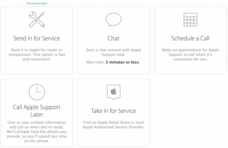 Apple Adds Genius Bar Reservations to Product Support Options