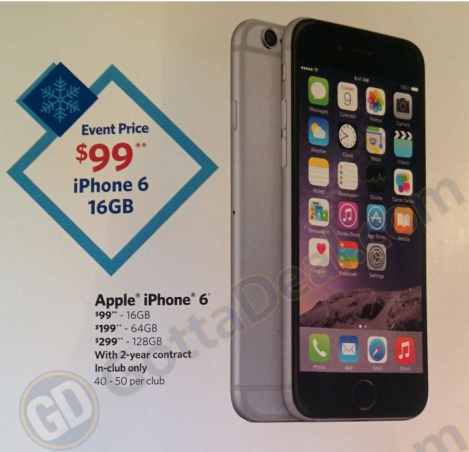 Sams Club Promotion >> Sam S Club Selling Iphone 6 As Low As 99 Starting November