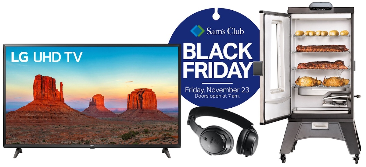 Sam's Club is selling on a discounted price the The company is offering numerous deals on TVs and other electronics:  iRobot Roomba E5 - $249.98, down from $349.98  LG 43-inch 4K HDR Smart LED UHD TV - $269.00, down from $379.00  VIZIO D-Series 65-inch Class 4K HDR Smart TV - $529.00, down from $679.00  Arlo Pro Wire-Free HD Camera Security System - $279.00, down from $369.00  Bose On-Ear Wireless Headphones - $99.88, down from $159.88  Braven STRYDE 360, Waterproof Bluetooth Speaker - $39.88, down from $79.88  Masterbuilt MES 340G Bluetooth Electric Smoker - $229.00, down from $329.00  Playstation 4 1TB Console with Marvel's Spider-Man Bundle - $199.00, down from $299.00  Xbox One S Minecraft Creators Bundle 1TB - $199.00, down from $299.00