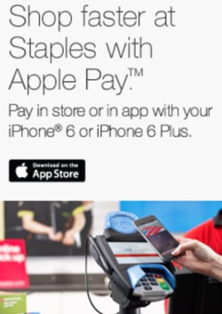 1a65aabb606 Staples Begins Accepting Apple Pay in Retail Stores - MacRumors