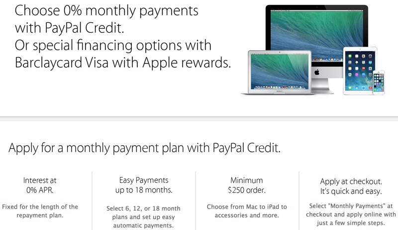 Stores That Accept Paypal Credit Online >> Apple Online Store Now Accepting Paypal Payments Macrumors