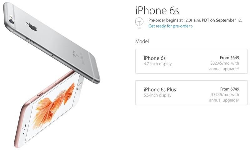 Apple's iPhone 6s