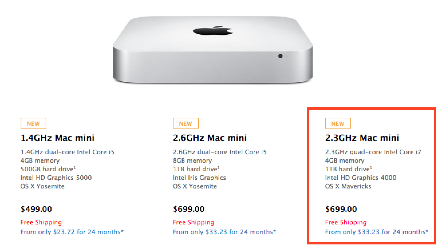 quad core 2012 mac mini mysteriously reappears on apple 39 s. Black Bedroom Furniture Sets. Home Design Ideas
