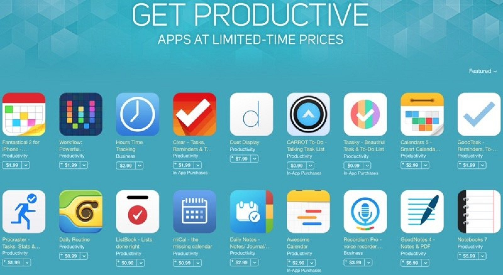 Apple Launches 'Get Productive' Promotion for iOS and Mac ...