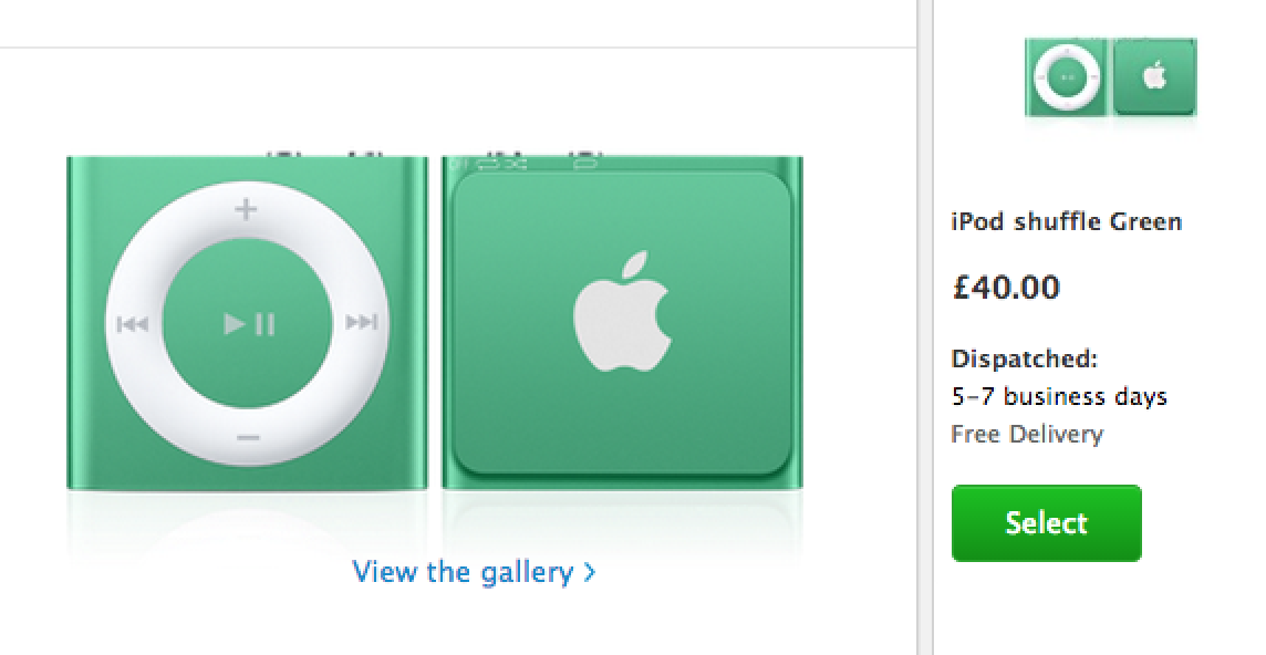 Ipod Shuffle Shipping Times Improve To 5 7 Days In Europe Following Reports Of Supplier Change Macrumors