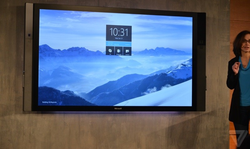 Microsoft Debuts 84-Inch Surface Hub Touch Display, HoloLens