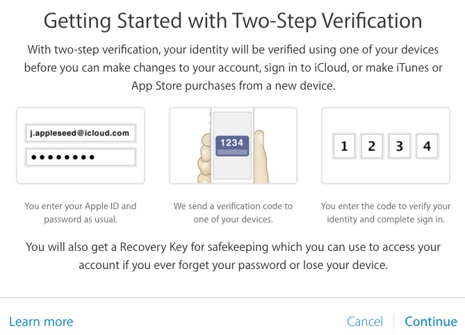 Apple ID Getting Started Two Step
