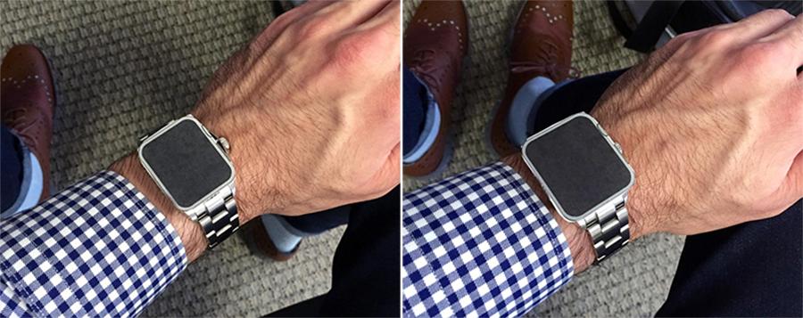 Apple Watch Size on Wrist Comparison