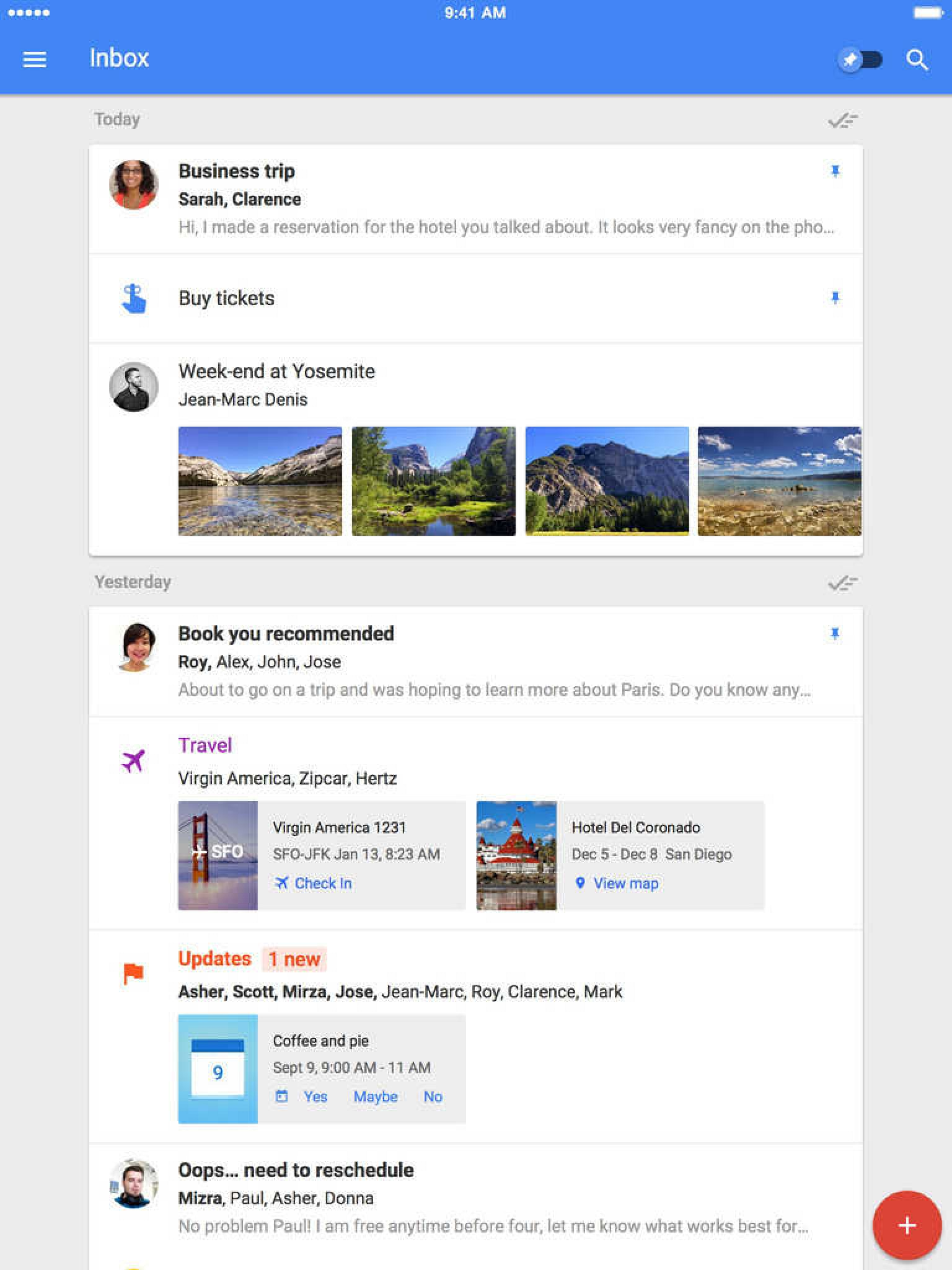 Google Updates the View Gmail on the iPad