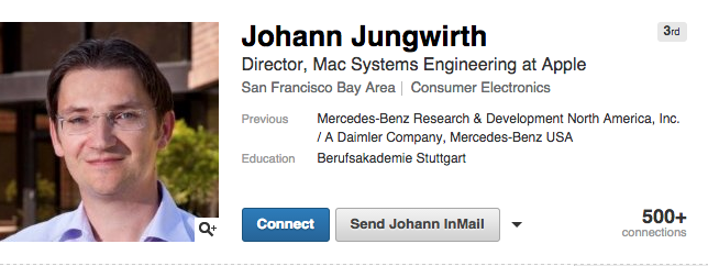 Johann Jungwirth Apple