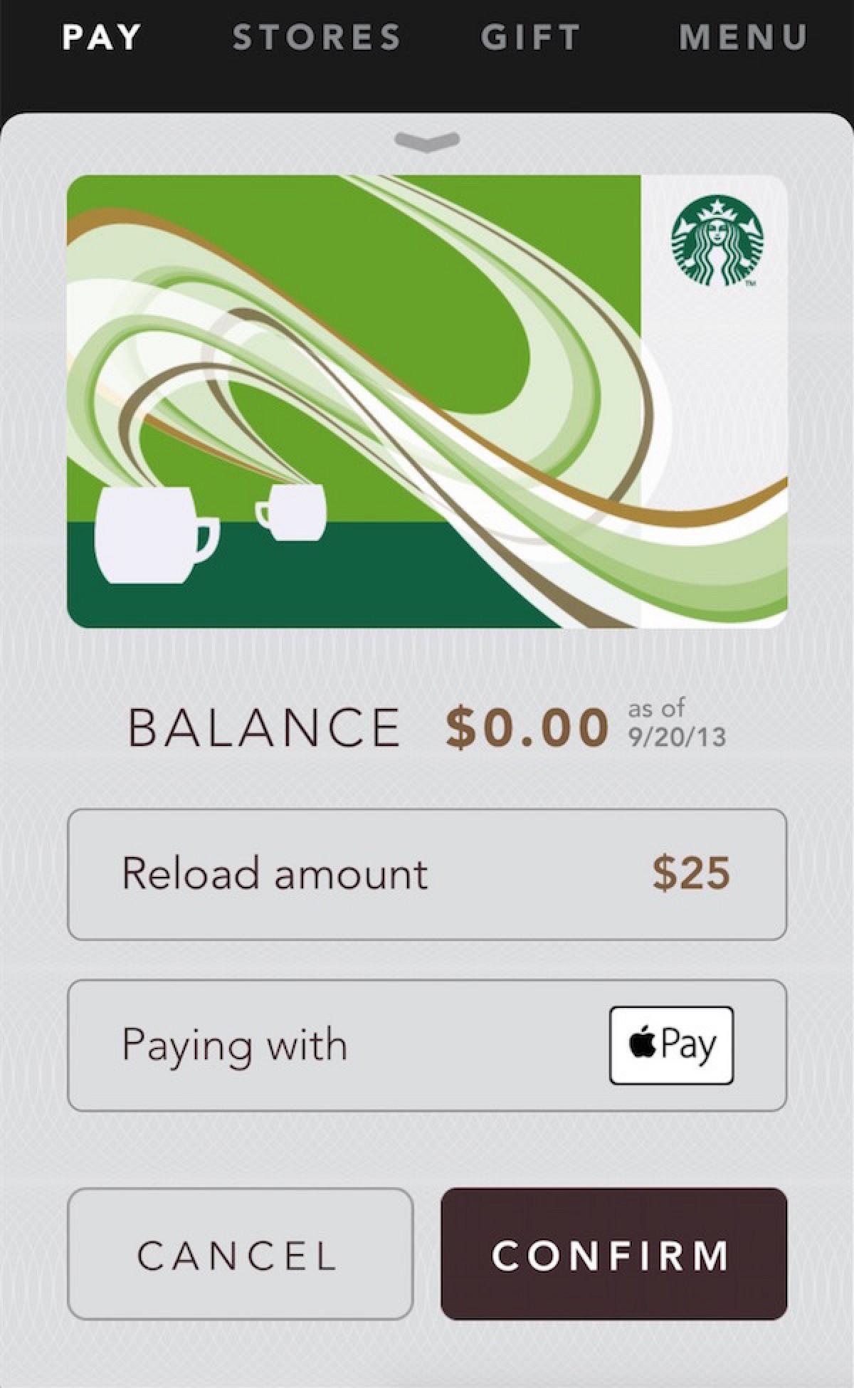 Starbucks iOS App Gains Support for Apple Pay - Mac Rumors