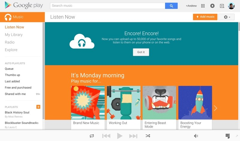 Google Expands Free Google Play Music Storage to 50,000