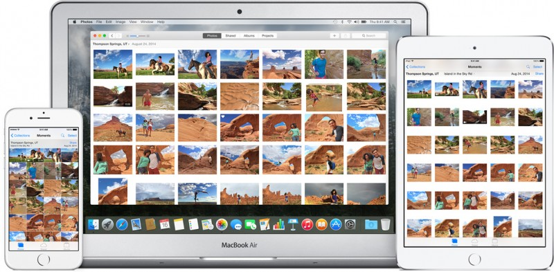 how to use icloud photo library in photos to sync pictures between