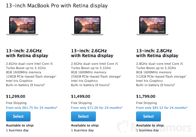 MacBook Air And 13 MacBook Pro Shipping Times Slip Ahead
