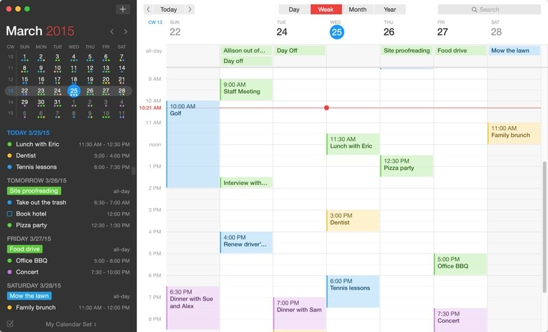 Fantastical 2' Launches for Mac With Yosemite-Style Redesign, Full