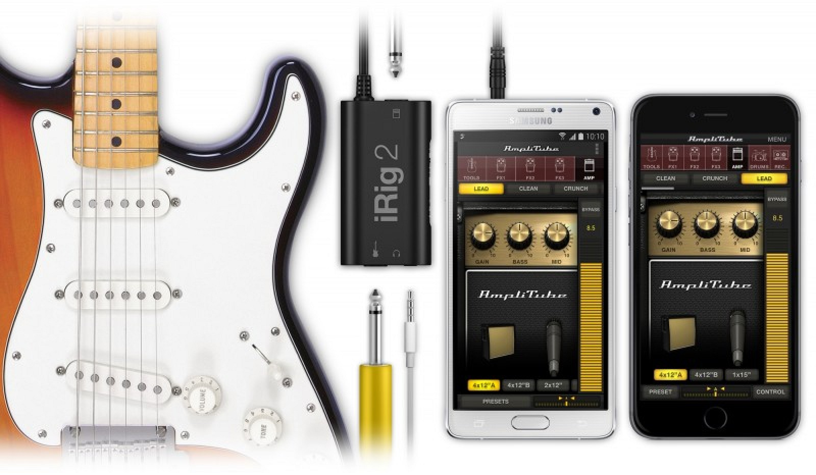 iphone guitar interface irig 2 guitar interface now available for iphone and 11905