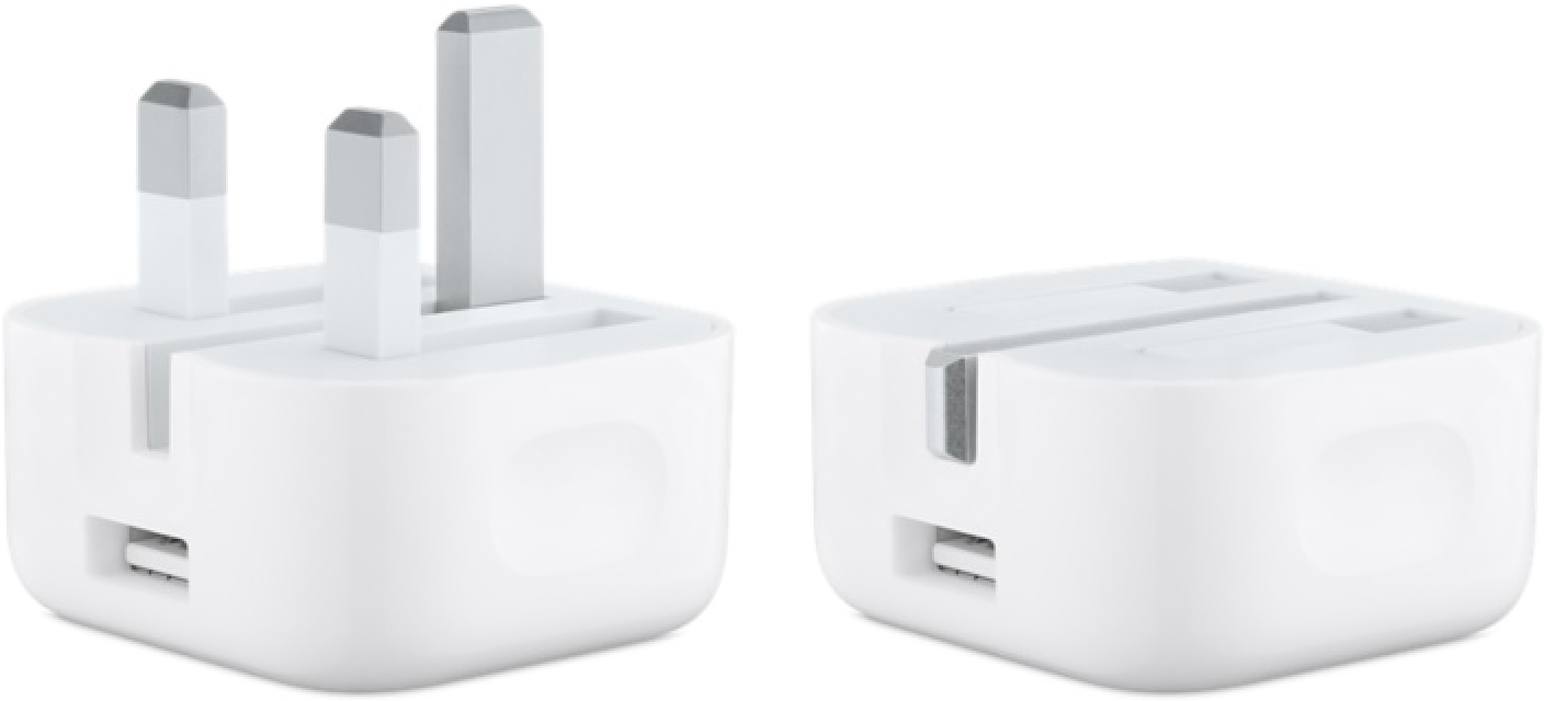 Apple Introduces New 5w Charger With Folding Pins In