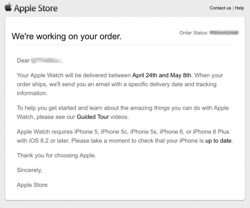Apple Contacting Some Early Apple Watch Customers Were