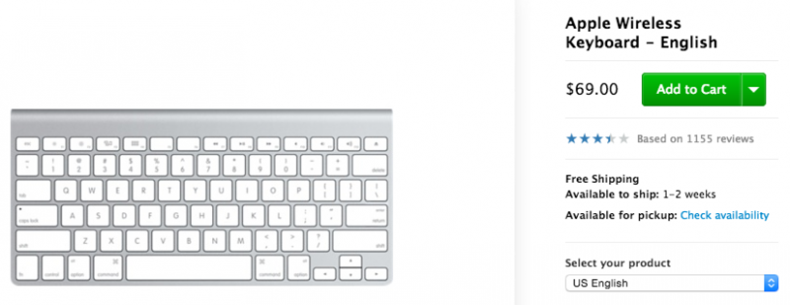 apple wireless keyboard now ships in 12 weeks new