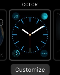 How to change a background on an apple watch