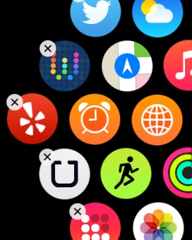 Rearranging Apple Watch Appsq