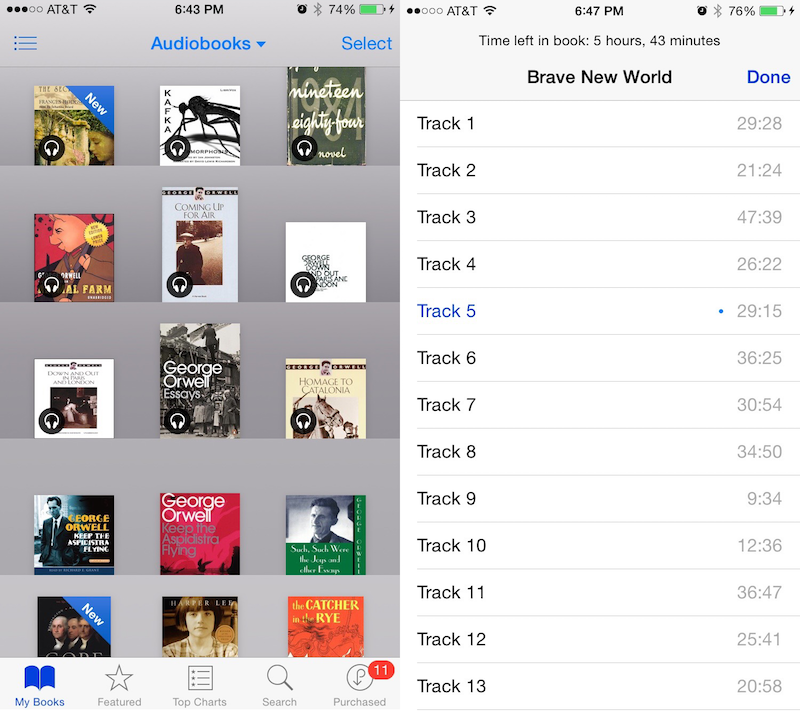 how to access audiobooks on iphone apple audiobooks into ibooks app adds chapter 4894