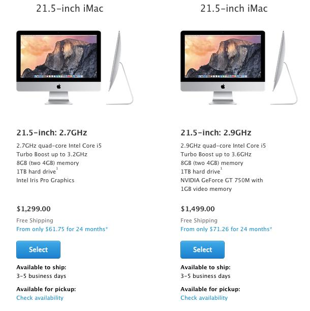 iMac 21.5 3-5 Days