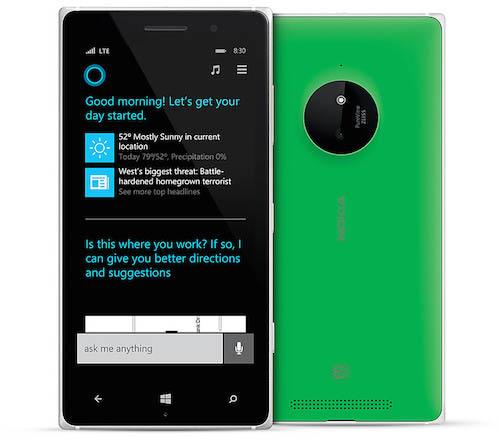 Microsoft Cortana Nokia