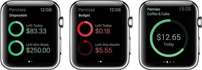 pennies apple watch app