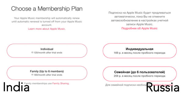 Apple Music May Cost Just $2 to $3 Per Month in India and Russia