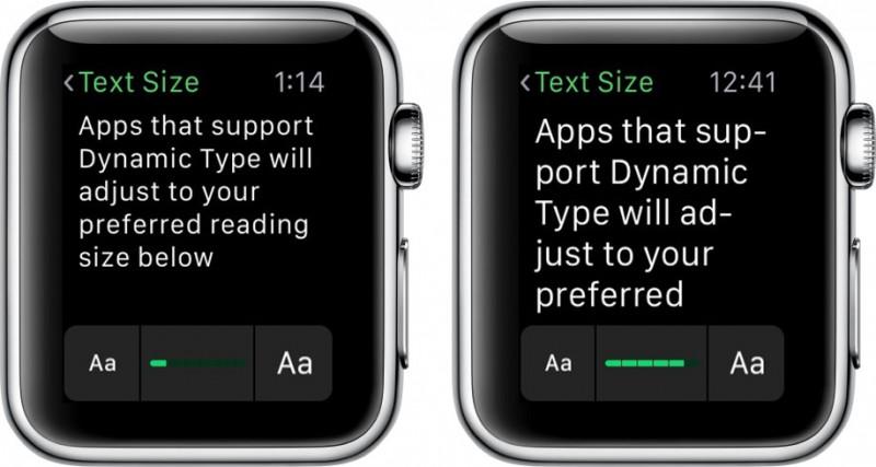 Apple Watch Larger Font
