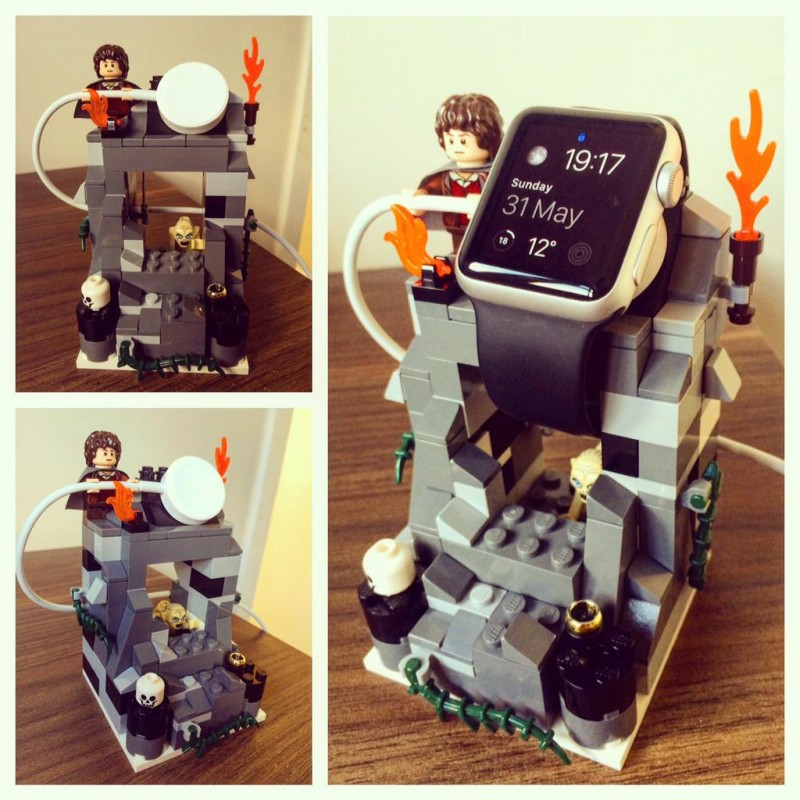 apple watch stand lego