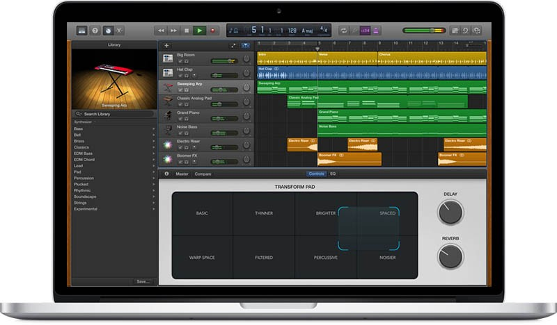 Apple updates garageband for mac with new electronic hip hop synths and drummers macrumors - Latest version of garage band ...