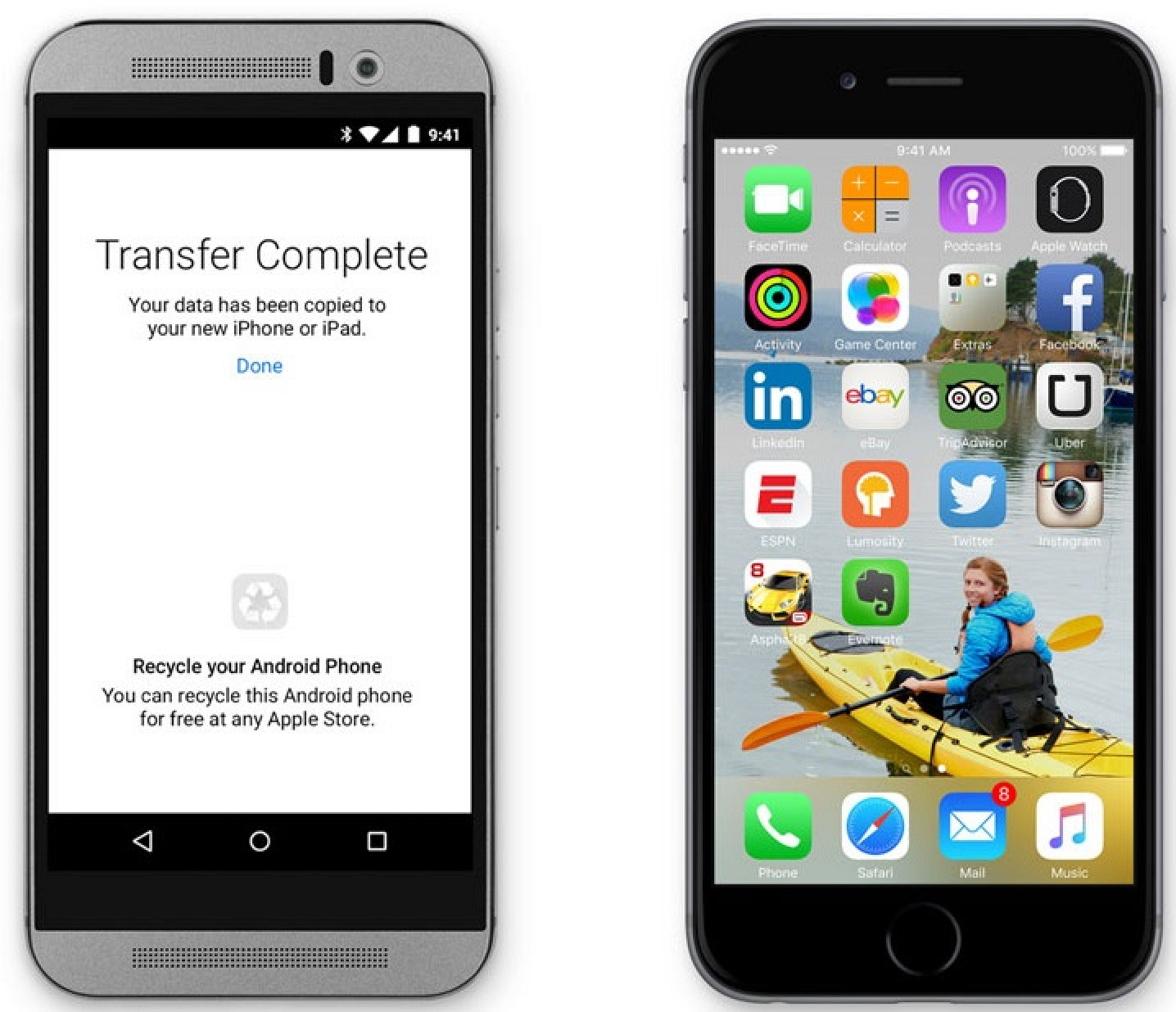 migrate android to iphone move to ios app allows for no hassle android to ios data 15685
