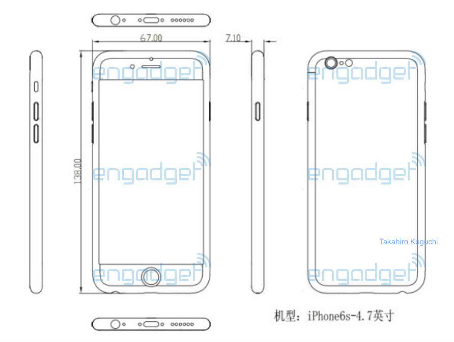 Purported Schematic Suggests 'iPhone 6s' Could Be Slightly ... on