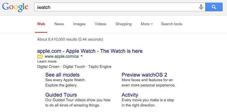 iWatch Google
