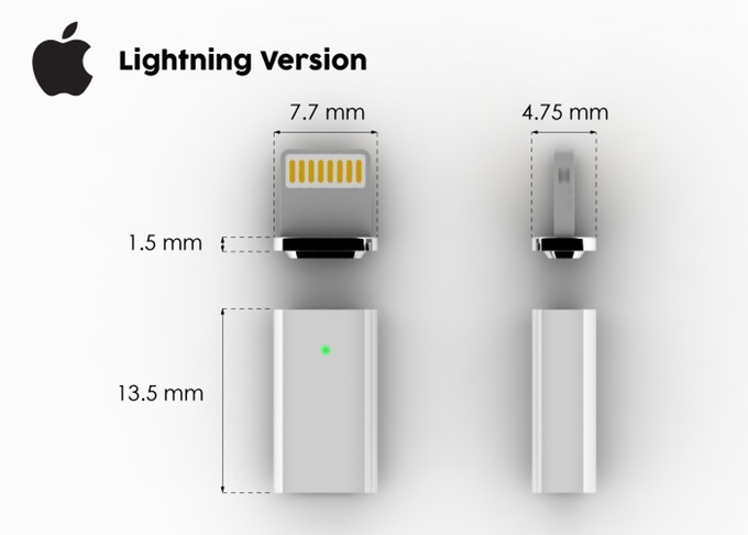 39znaps39 adds magsafe style connectivity to your lightning for Iphone 5 displays ship month ceo