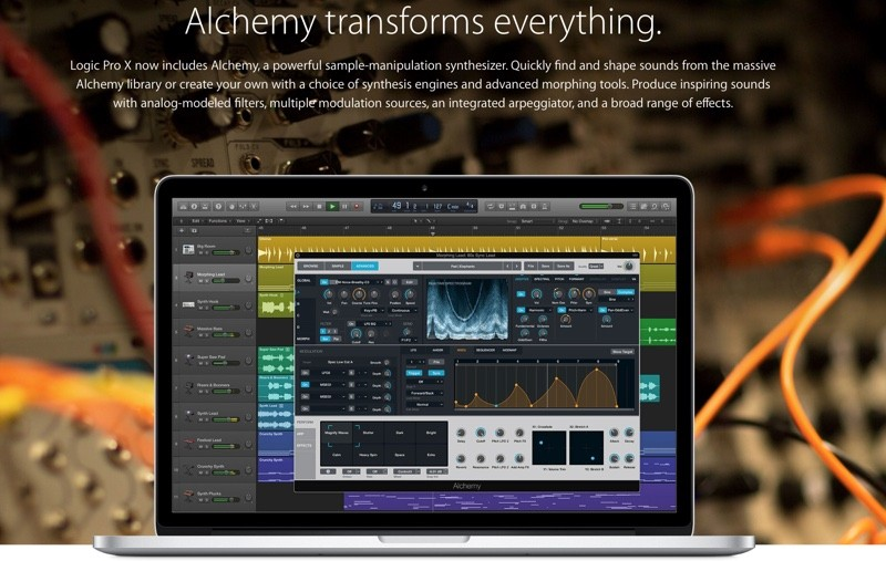 Logic Pro X and MainStage Updated With Alchemy Integration From