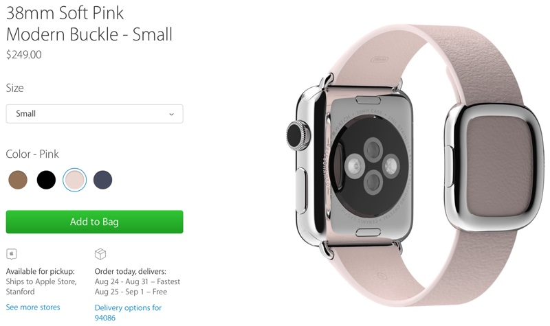 87c68d348 Apple Begins Taking Orders for Standalone Modern Buckle Apple Watch Bands
