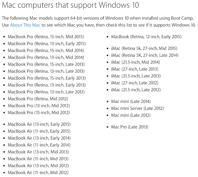 Apple Updates Boot Camp With Windows 10 Support Mac Rumors