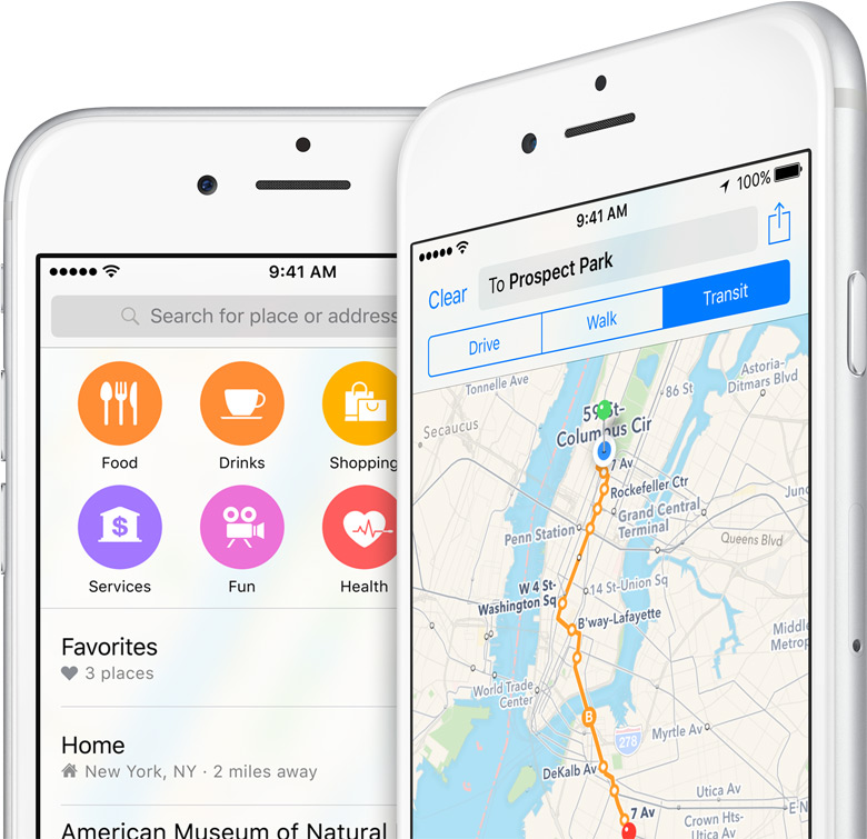Inside iOS 9: Apple Maps Gains Transit Mode and Nearby ... on