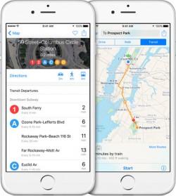Transit Apple Maps