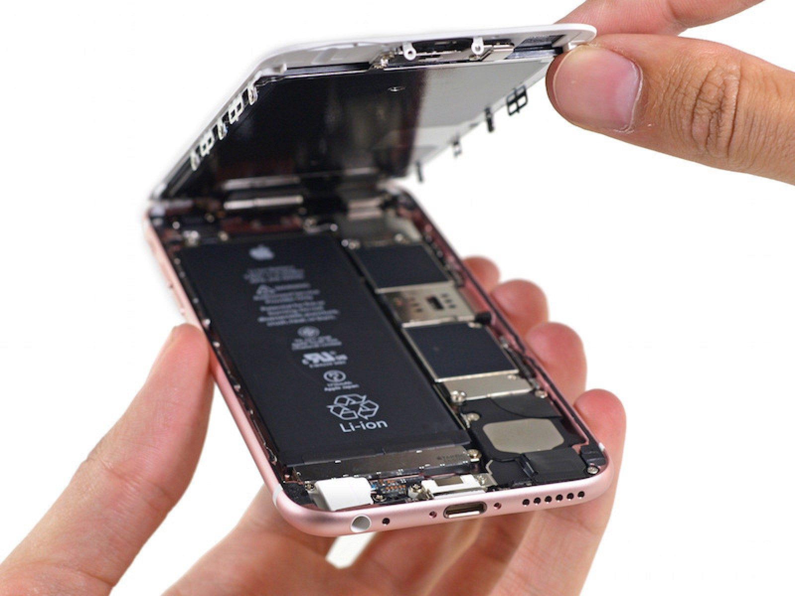 iPhone 6s Teardown: 1715 mAh Battery, Taptic Engine X-Ray, 3D Touch Display