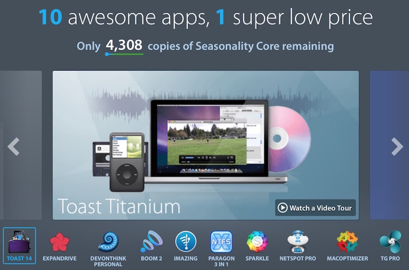 MacUpdate Offers 10 Apps for $49 99, Including Toast 14