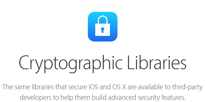 Apple Opens Cryptographic Libraries to Third-Party