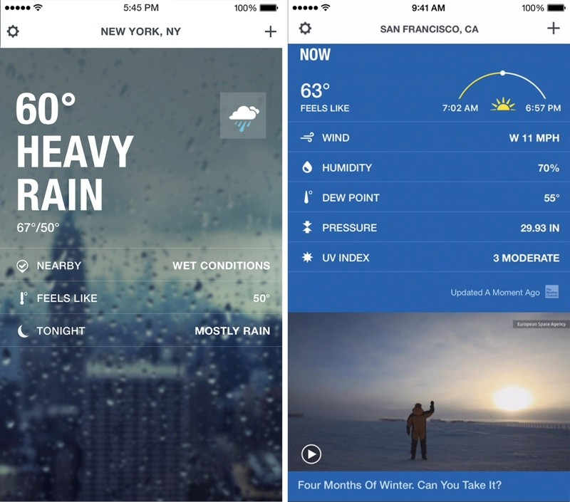 The Weather Channel App For IPhone Gains Revamped Design
