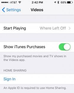 Home Sharing iOS