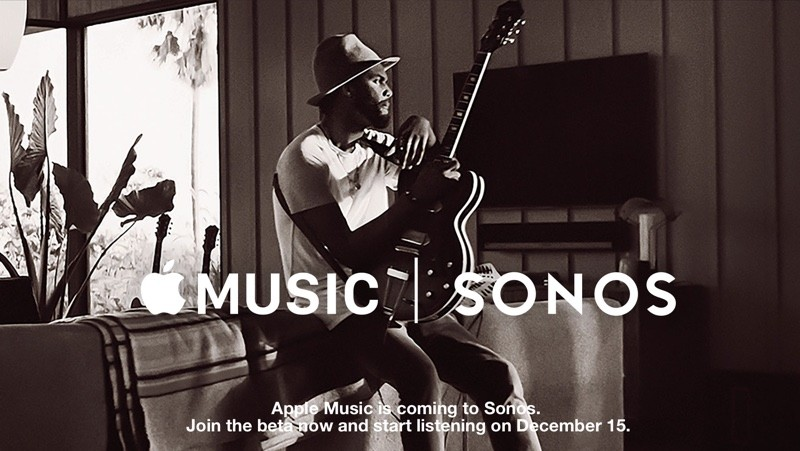Apple Music Available on Sonos Devices Starting December 15