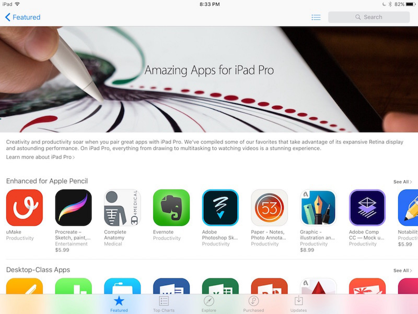 Apple Highlights iPad Pro-Enhanced Apps and Games In New Featured