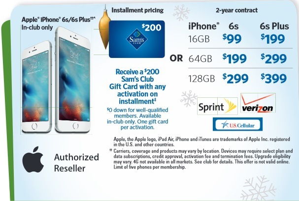 sam s club announces holiday savings event with iphone 6s and ipad